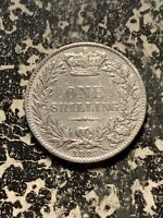 1883 GREAT BRITAIN 1 SHILLING LOTQ955 SILVER  CLEANED