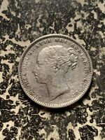 1885 GREAT BRITAIN 1 SHILLING LOTQ956 SILVER  NICE DETAIL  CLEANED