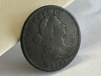 1797 LARGE CENT UNITED STATES COIN ESTATE FIND PENNY 1C DRAP