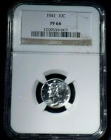 1941 PROOF MERCURY DIME 10  NGC PF66