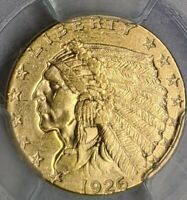 1926 GOLD INDIAN $2.5 DOLLAR AU58 NGC