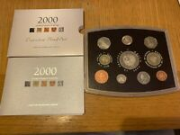 2000 MILLENNIUM ROYAL MINT UK PROOF 10 COIN YEAR SET INCLUDES 5 COIN 2000   COA