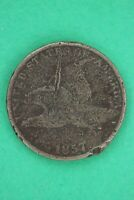 1857 FLYING EAGLE CENT EXACT COIN SHOWN LOW GRADE FLAT RATE SHIPPING OCE 32
