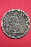 1840 P SEATED LIBERTY DIME EXACT COIN SHOWN COMBINED FLAT RATE SHIPPING OCE 81