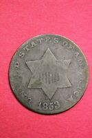 1853 TRIME 3 CENT SILVER COIN EXACT COIN SHOWN COMBINED SHIPPING OCE 13