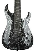 SCHECTER C-7 MS SILVER MOUNTAIN - BLACK AND SILVER