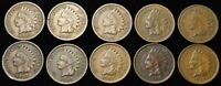 1907 INDIAN CENT - 10 COIN LOT FULL LIBERTY ON MOST OF THEM