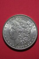 1897 P BU VAM 6A PITTED REVERSE MORGAN SILVER DOLLAR FLAT RATE SHIPPING  OCE 083