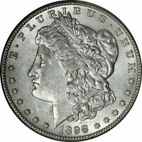 1898-S MORGAN DOLLAR LUSTROUS BU CONDITION -  KEY DATE - BYN