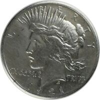 1921 PEACE DOLLAR HIGH RELIEF   CLEANED   4WW002