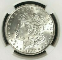 1882 MORGAN SILVER DOLLAR  NGC MINT STATE 63 BEAUTIUFUL COIN REF05-014