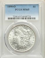 1890-O US MORGAN SILVER DOLLAR $1 - PCGS MINT STATE 65