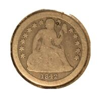 1842-O SEATED LIBERTY DIME - SHIPS FREE