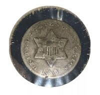1851 SILVER THREE CENT PIECE - SHIPS FREE