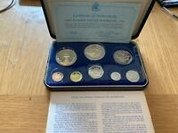 1973 BARBADOS EIGHT COIN PROOF SET   FIRST NATIONAL COINAGE