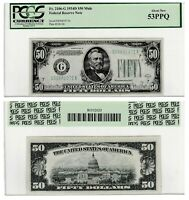 MULE NOTE CHICAGO $50 1934 D FRN FEDERAL RESERVE NOTE, PCGS ABOUT NEW 53 PPQ