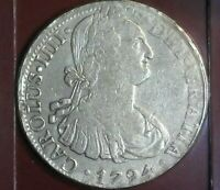 MEXICO 1794-MO FM 8 REALES / SILVER DOLLAR / C. CHAVEZ DAY SALE