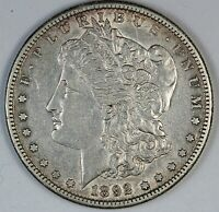 1892-S UNITED STATES MORGAN SILVER DOLLAR - EXTRA FINE  EXTRA FINE PLUS CONDITION