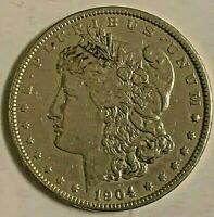 1904 MORGAN DOLLAR FINE COIN