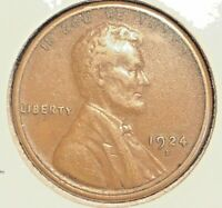 1924-S LINCOLN CENT  EXTRA FINE /AU