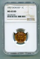 DOMINICAN REPUBLIC CENTAVO 1957 NGC MS 65   LOTAPR5825