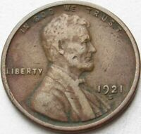 1921-S LINCOLN WHEAT CENT IN A SAFLIP - FINE- VG