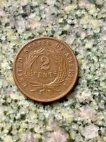 1869 2C UNITED STATES OF AMERICA TWO CENTS