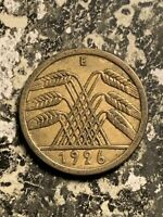 1926 E GERMANY 5 PFENNIG LOTQ9492 KEY DATE