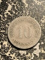 1876 D GERMANY 10 PFENNIG LOTQ9521