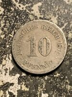 1876 J GERMANY 10 PFENNIG LOTQ9527