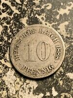 1888 E GERMANY 10 PFENNIG LOTQ9529