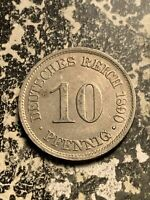 1890 F GERMANY 10 PFENNIG LOTQ9539 LOW MINTAGE