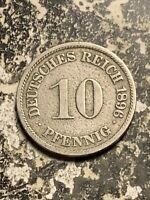1896 A GERMANY 10 PFENNIG LOTQ9547