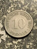 1901 G GERMANY 10 PFENNIG LOTQ9560