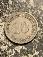 1902 D GERMANY 10 PFENNIG LOTQ9563