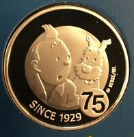 BELGIUM   SILVER 10 EURO COIN   75 YEARS OF TINTIN   2004   PROOF