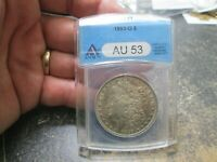US ANACS AU 53 ABOUT UNCIRCULATED 1893 O MORGAN SILVER DOLLAR