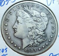 WOW 1903 S MORGAN DOLLAR VF  VAM 2 MICRO S    ORIGINAL PROBLEM FREE