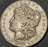 1901 S MORGAN SILVER DOLLAR AU BEAUTIFULLY TONED  1D U.S. COIN MAKE OFFER