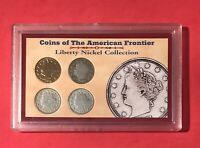 LIBERTY NICKLES 4 SET AMERICAN FRONTIER 4 COIN SET 1905-1908-1901 SILVER AND 191
