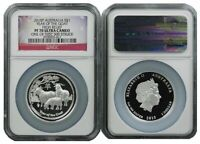 2015 P AUSTRALIA SILVER HIGH RELIEF GOAT NGC PF70 UC ONE OF