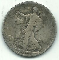 VINTAGE  GOOD  VG  1919 P LIBERTY WALKING SILVER HALF DOLLAR COIN-OCT275