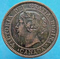 1859  RP 5 VARIETY CANADA CANADIAN LARGE 1 CENT VICTORIA COI