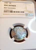 1907 LIBERTY NICKEL HIGHLY UNCIRCULATED NGC  SWEET GEM MS