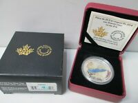 2014 CANADIAN THE GREAT LAKES ENAMEL LAKE ERIE SILVER $20 DO
