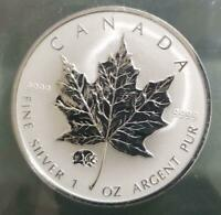 CANADA   2007 SILVER $5 MAPLE LEAF WITH PIG PRIVY .9999  1 O