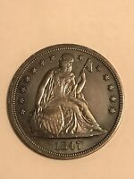 1847 SEATED LIBERTY ONE DOLLAR HIGH GRADE SPECIMEN