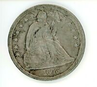 1843 SEATED LIBERTY DOLLAR $1
