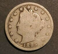 USA 1895 LIBERTY V NICKEL - BETTER DATE