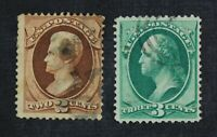 CKSTAMPS: US STAMPS COLLECTION SCOTT135 136 USED 135 TINY TH